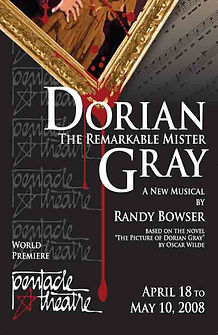 poster for the premier of the musical Dorian Gray