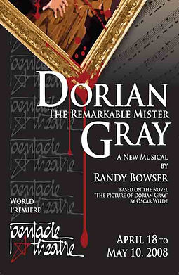 poster for the premiere of Dorian Gray the musical based on Oscar Wilde