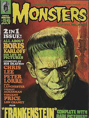 a classic cover of Famous Monsters of Filmland