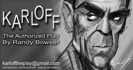 Karloff caricature by Joel Brinkerhoff