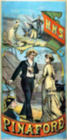 poster for the first production of H.M.S. Pinafore