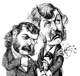 19th century cartoon of Gilbert and Sullivan