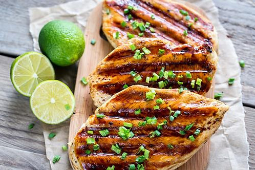 Poulet grillé à la lime et huile d'olive (keto)