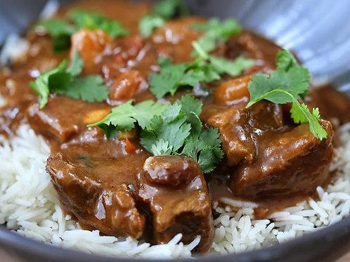 Curry de boeuf à la coriandre