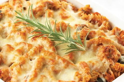 Gratin de pâtes poulet romarin