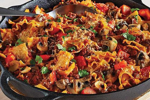 Lasagnette à la viande effiloché