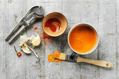 Marinades orange, ail et paprika fumé