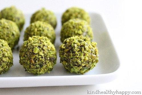 Bouchées thé vert et pistaches