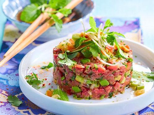 Tartare de boeuf thaï à la coriandre (keto)