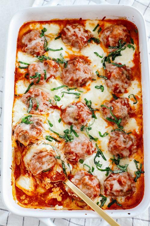 Casserole de dinde, tomate et fromage