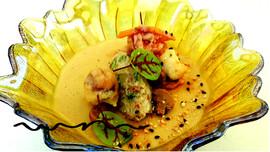 foie gras lait de coco, pomme vanille et
