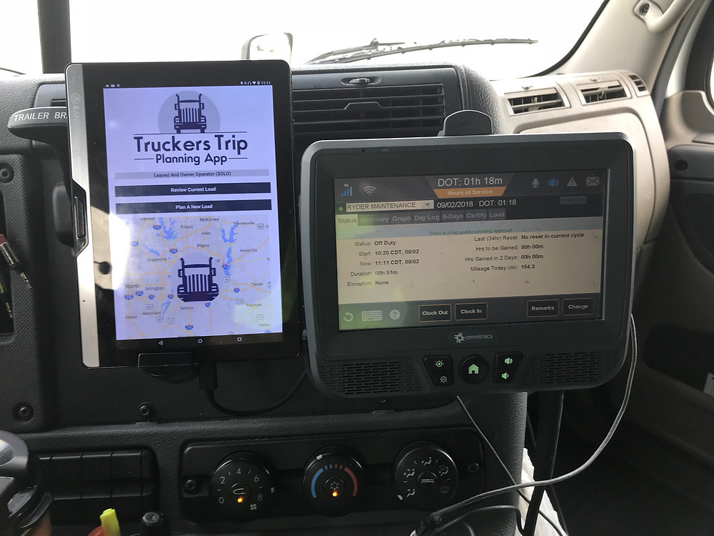 Truckers Trip Planning App on Rand McNally