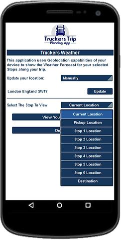 Truckers Weather App