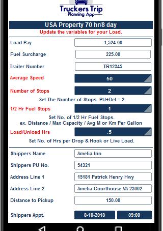 Trucker Trip Planning Worksheet!