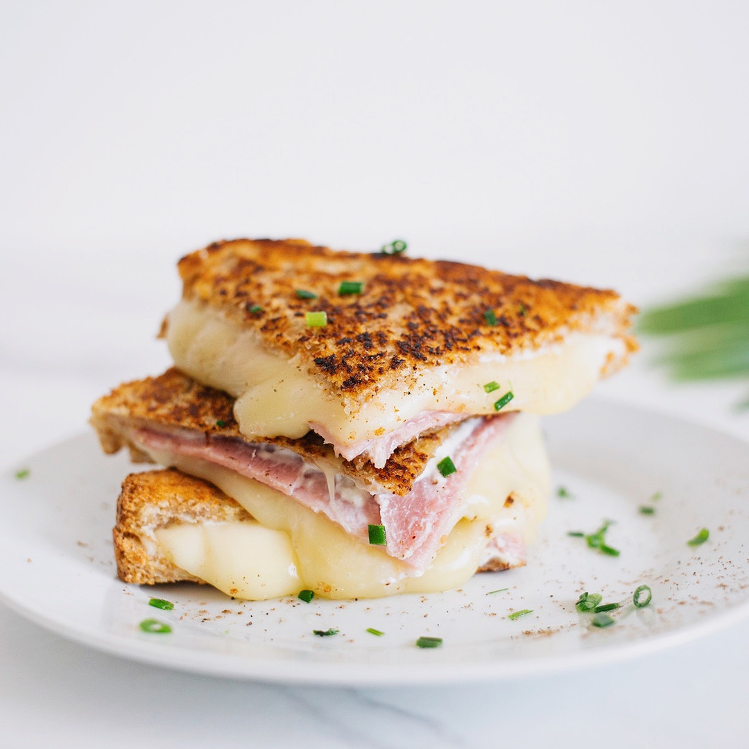 Recette facile toast raclette jambon
