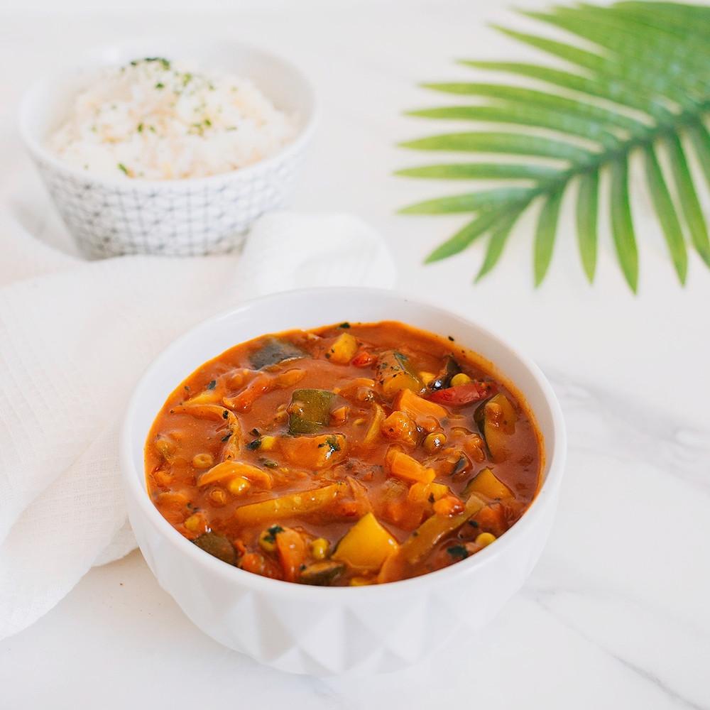 Recette facile curry végétarien aux légumes