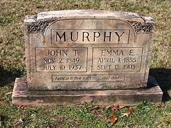 John Terry & Emma Murphy grave marker