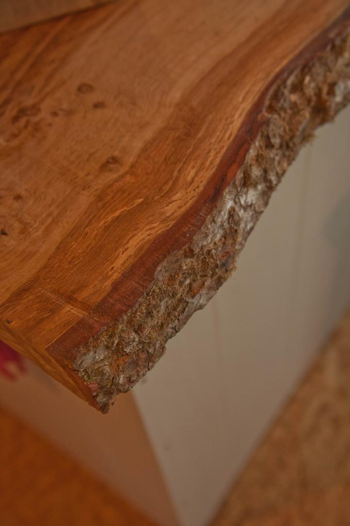 Live edge oak worktop