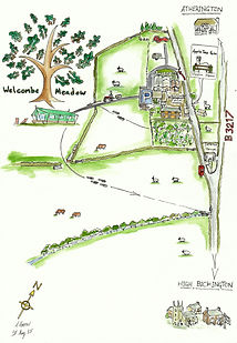Welcombe Meadow Site Map