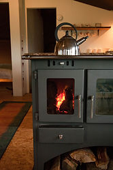 Wood burning stove and kettle