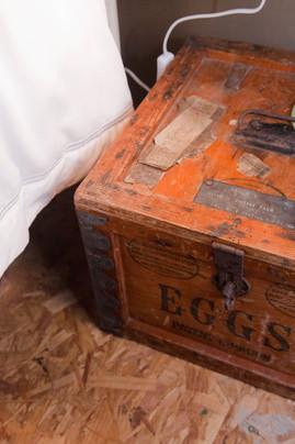 Egg box side table