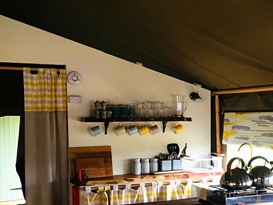 Kitchen and shelf