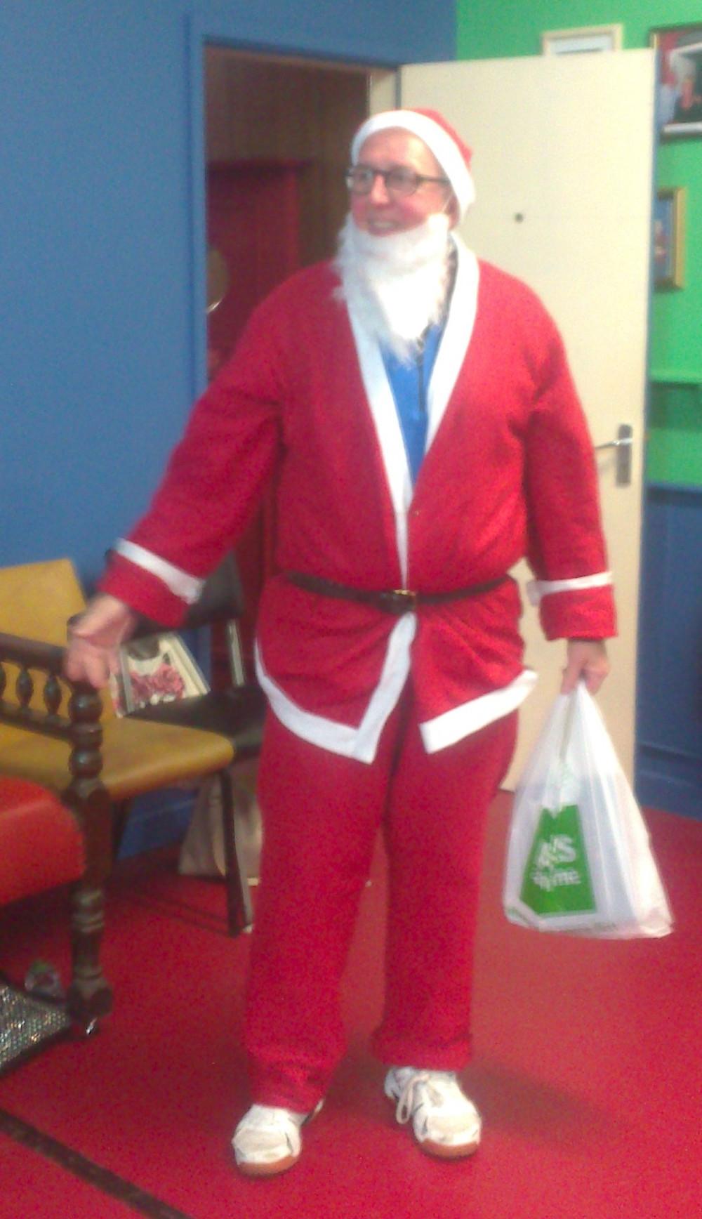 Even Santa helps make the day at Marine