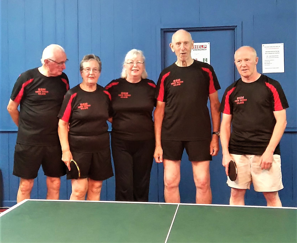 And the winning G Team, Tom Bell, Barbara Alcock, Mary Delamere, Des Logan (Captain) and Steve McCormick