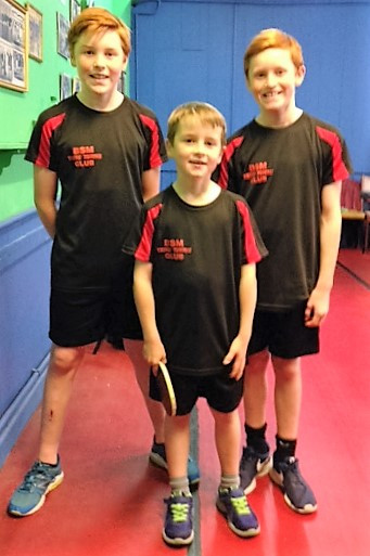 Three of the 4 members of the Mason family currrently attending junior coaching. Picture courtesy of Dad, Ian Mason.