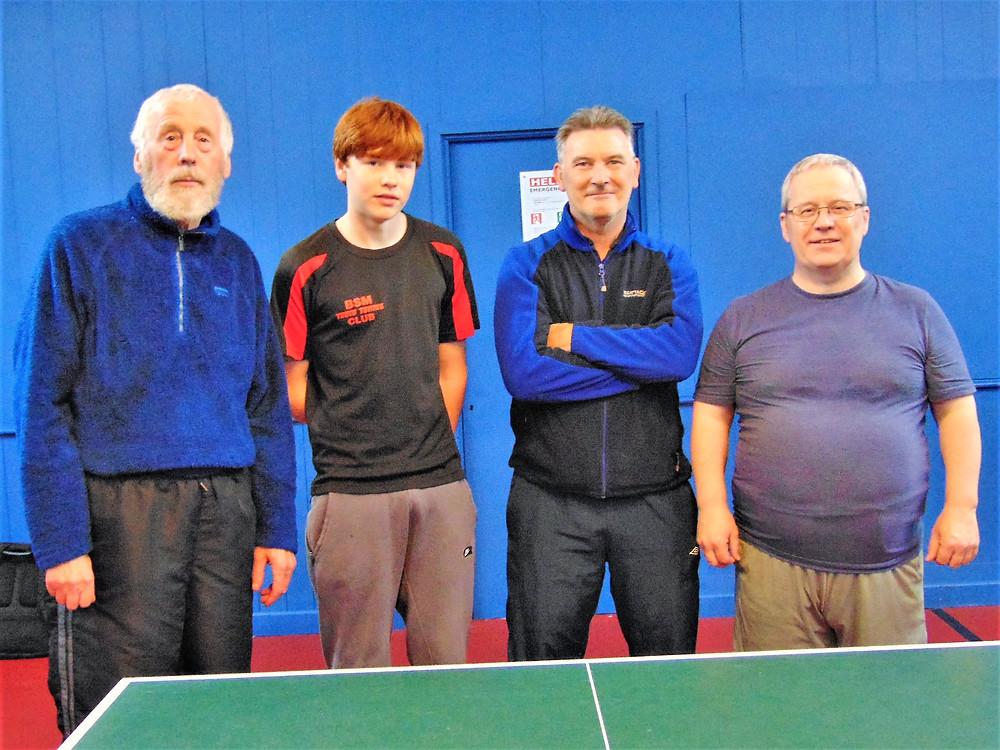 Dave McMahon between Euan Mason & Andy Armstrong