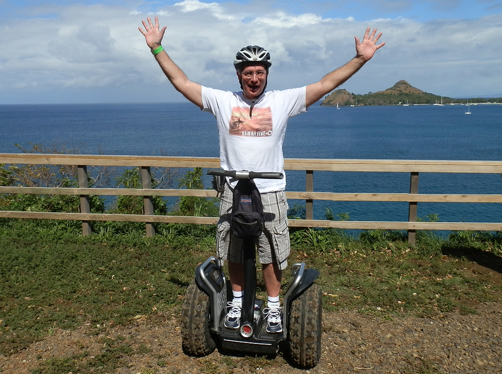 Is this Club Secretary Graham Turner celbrating victory on his way home after a match at Marine....?