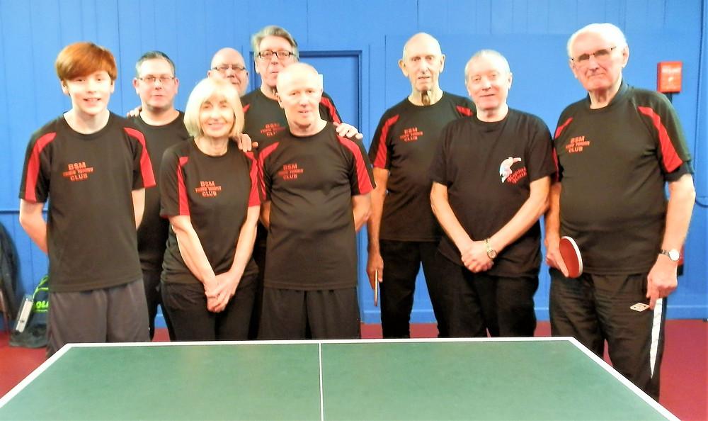 From the left: Euan Mason, Mark Benson, Jenny Givens, Tony Rimmer, Bernard Cooney, Steve McCormick, Des Logan, Keith Hardman and Tom Bell.