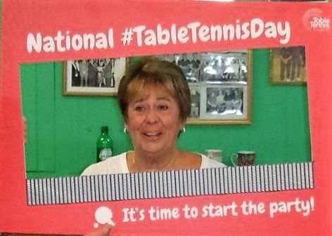 Liz at Marine on National Table Tennis Day 2016