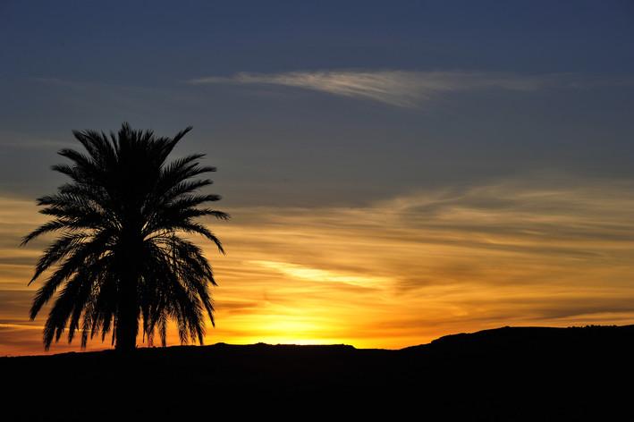 Levé de soleil à Bechar