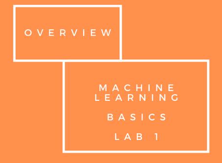 Machine Learning Basics - Lab 1