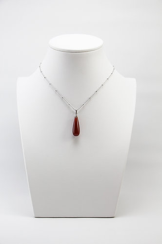 The Pinnacles Collection - Red Agate Teardrop Necklace