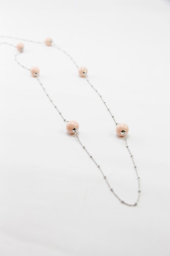 The Pinnacles Collection - Coral Shell Pearl Beads Long Necklace