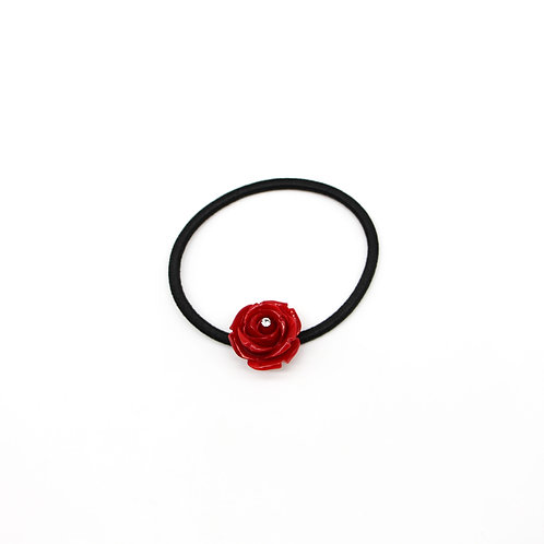 Hair Tie with Small Rose