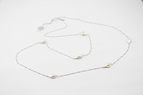 The Pinnacles Collection - Keshi Pearls Long Necklace