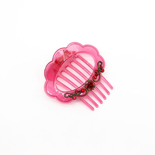 Vivian Hair Clip with Anodised Rose