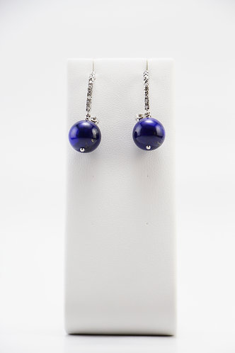 The Pinnacles Collection - Mid-Length Lapis Earrings