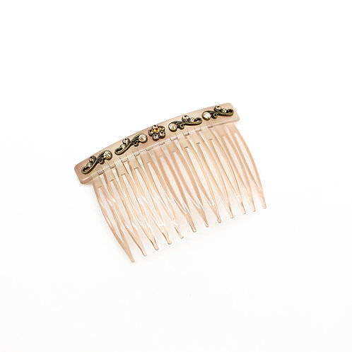 Side Comb with Swarovski Crystal Flower