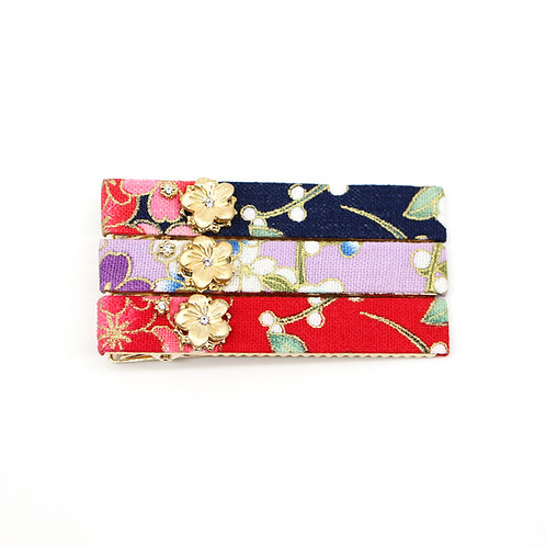 Haru Collection: Medium Gold-plated Leah Alligator Clip with Gold-plated Sakura