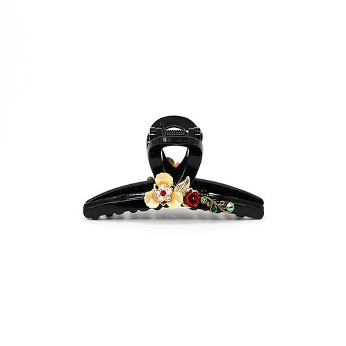 The Lasalle Collection: Medium Olivia Jaw Clip with Rose Buds
