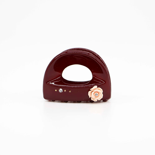 Margo Jaw Clip with Rose (Small)