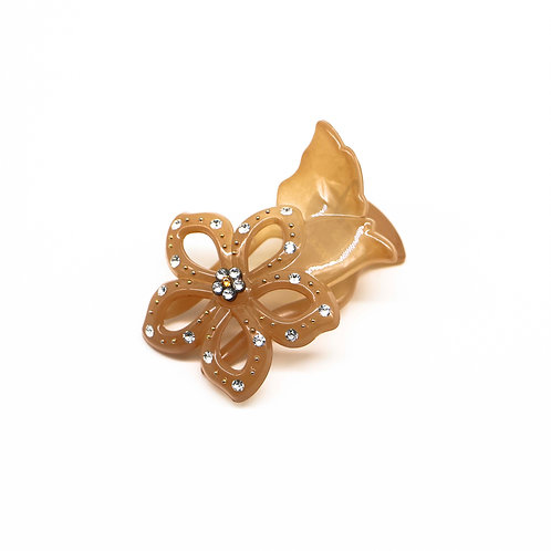 Francesca Hair Clip with Swarovski Crystal Flower