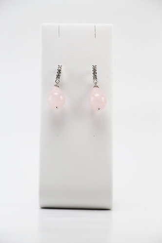 The Pinnacles Collection - Rose Quartz Teardrop Earrings