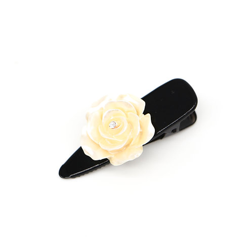 Alice Alligator Clip with Extra Large Rose (Neutral Colours)