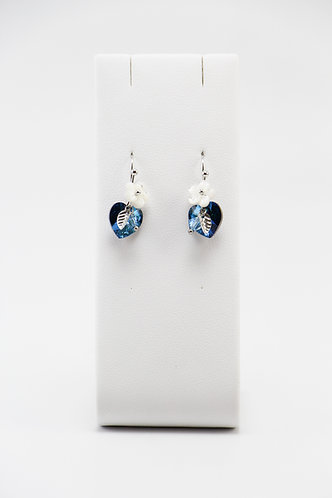 The Pinnacles Collection - Bermuda Blue Heart Earrings