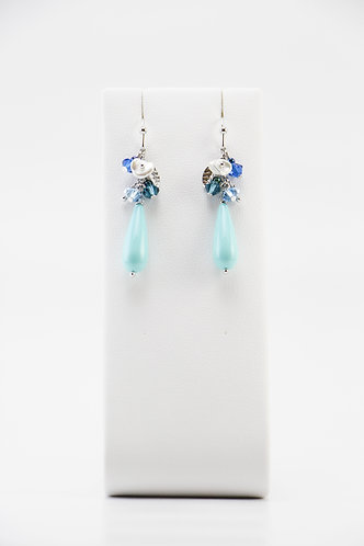 The Pinnacles Collection - Blue Shell Teardrop Pearl Earrings